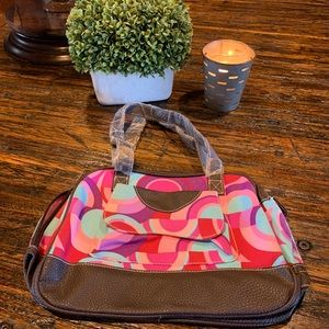 Handbags - Multicolor Handbag Purse New Wavy Geo Print